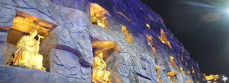 国内首创罗汉题材摩崖石刻