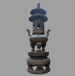 精品铸铜圆香炉