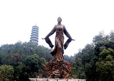 杜丽娘铜像