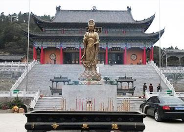 龙泉寺观音铜像